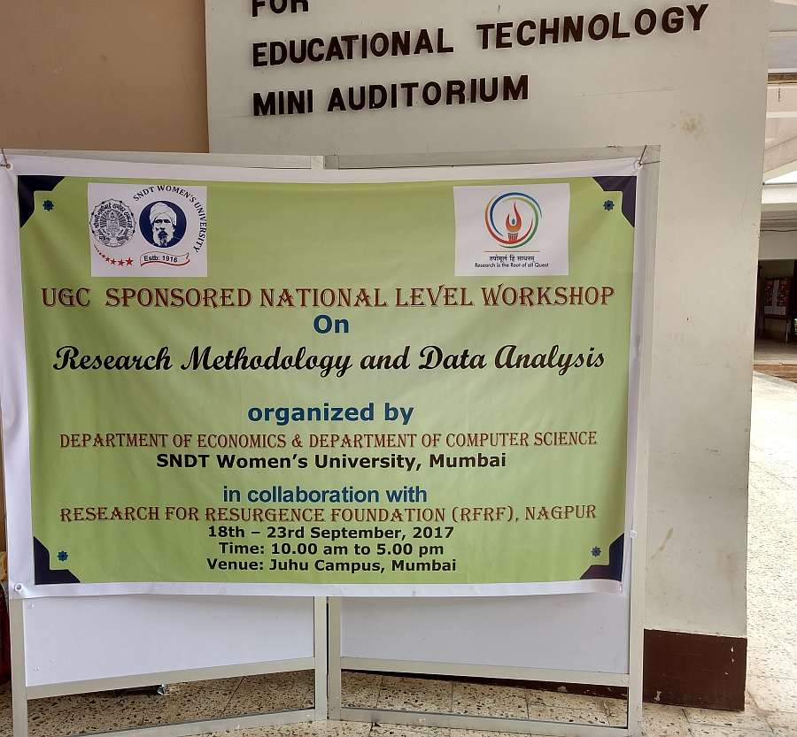 UGC Sponsored National Level Workshop on Research Methodology & Data Analysis 2017