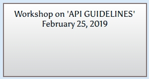 Workshop on 'API GUIDELINES'