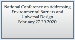 National Conference on Addressing Environmental Barriers and Universal Design