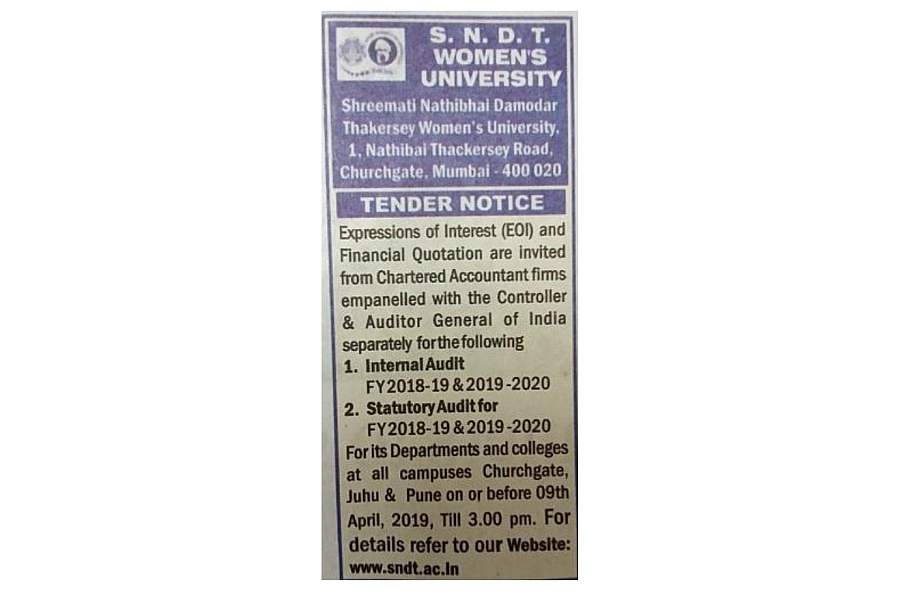 Advertisement for EOI FY 2018-19 & 2019-20